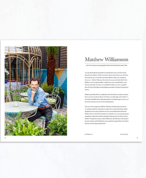 Matthew Williamson exclusive interview for Estila's The Style Tales issue