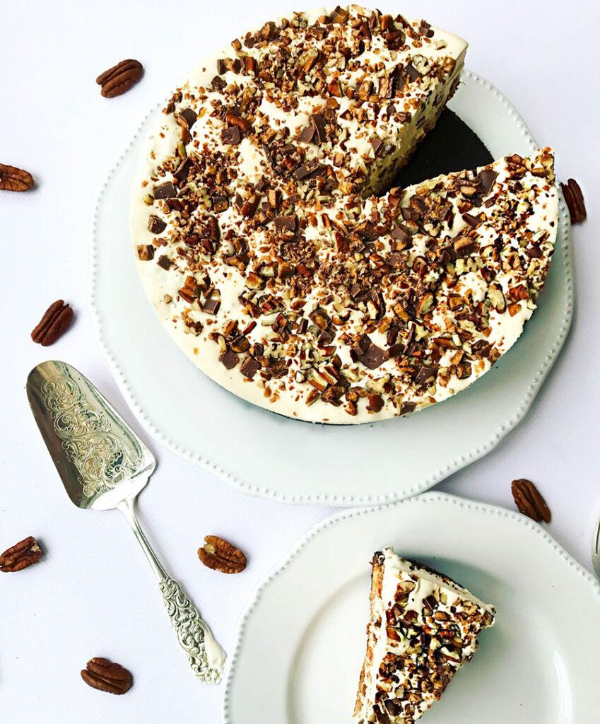 pecan & daim ice-cream cake