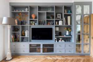 teal and grey in interiors