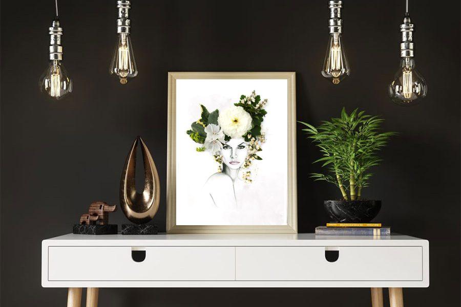 floral collage illustration